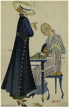 Women at tea time, US, 1915