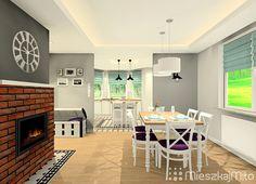 Kuchnia otwarta na salon Table, Furniture, Home Decor, Drawing Rooms, Decoration Home, Room Decor, Home Furniture, Interior Design, Home Interiors