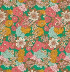 Dainty Daisies in Emerald 1 Yard Bungalow Joel by moderncloth
