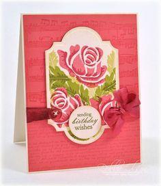 Card by Debbie using PTI Rosie Posie.  Spellbinders Labels Twenty Eight