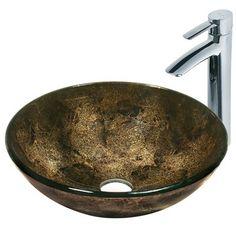 Vigo VGT122 Sintra Glass Faucet and Vessel Sink
