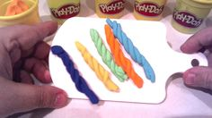 Play Doh Braids  simply using  and very quickly a syringe