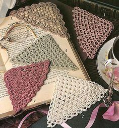 Crochet Corner Bookmark Patterns from Leisure Arts. Find it here: http://www.leisurearts.com/products/crochet-corner-bookmark-patterns-digital-download.html