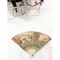 Magnificient 1700s folding fan antique folding fan victorian fan 18th... ❤ liked on Polyvore featuring home, home decor and mother of pearl home decor