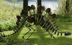 Repurposed metal farm tools. Mike Urban: Cretaceous garden « HAUTE NATURE