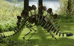 Repurposed metal farm tools. Mike Urban: Cretaceous garden « HAUTE NATURE