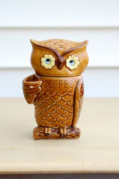 Give a Hoot for Your Brew Vintage Owl Coffee by ScissorsAndSpice