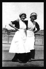 "Harvey Girls - ""Wanted: Young women, 18 to 30 years of age, of good moral character, attractive and intelligent , as waitresses in the Harvey Eating Houses on the Santa Fe Railway in the West."" Between the 1880's and the 1950's, 100,000 young women worked as Harvey Girls."
