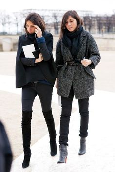 love the high boots!The Emmanuelle Alt Look Book - The Cut