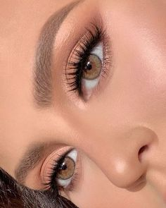"""The prettiest eyes sparkle from the inside out. ✨✨✨ _ """"Brown Sugar"""" Contacts _ Ardell Be. - The prettiest eyes sparkle from the inside out… ✨✨✨ _ """"Brown Sugar"""" Contacts _ Ardell Beauty faux mink 857 - Soft Eye Makeup, Makeup Eye Looks, Make Makeup, Natural Makeup Looks, Makeup For Brown Eyes, Glam Makeup, Makeup Inspo, Eyeshadow Makeup, Makeup Inspiration"""