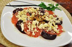 Salata de sfecla rosie cu grepfrut, feta si nuci: cum se face. Reteta salata de iarna din sfecla rosie cu grepfrut, nuci, feta si miere.