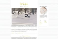 Modern Clean Premade Blogger Blog Theme - Winter
