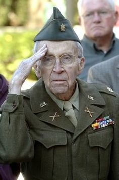 A soldier from the greatest generation.....
