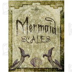 mermaid scales label