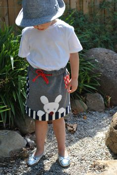 Funny Bunny skirt pdf pattern cute and easy to make for Easter. http://www.felicitysewingpatterns.com/product/sale-funny-bunny-skirt-pattern-felicity-sewing-patterns-sizes-1-8-years-easy-pattern-cute-bu?tid=25