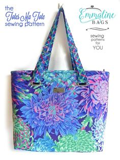 Emmaline Bags: Sewing Patterns and Purse Supplies: The Totes Ma Tote Bag: A New Cover Look