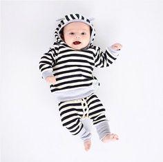$5.99 (Buy here: https://alitems.com/g/1e8d114494ebda23ff8b16525dc3e8/?i=5&ulp=https%3A%2F%2Fwww.aliexpress.com%2Fitem%2F2-Pcs-Stripe-Baby-Kids-Hooded-Clothing-Set-Infant-Babies-Boy-Girl-Hoodie-Tops-Pants-2pcs%2F32787401625.html ) 2 Pcs Stripe Baby Kids Hooded Clothing Set Infant Babies Boy Girl Hoodie Tops+Pants 2pcs Outfits Clothes Set for just $5.99