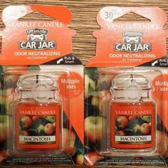 Yankee Candle Car Jars 2pk - Macintosh | Apple | Odor Neutralizing |