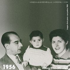#BiogrEnricMiralles Josep Miralles y Pilar Moya posando orgullosos con su hijo #EnricMiralles