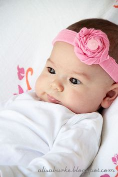Baby Headbands from upcycled old onesies and clothes..cute!