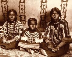 Blackfeet (Pikuni) mother and children - circa 1907