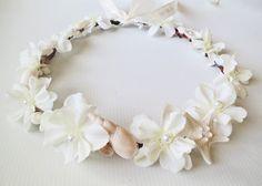 Mermaid's Dream Bridal Crown-Beach Wedding Crown by HairDoodleDo