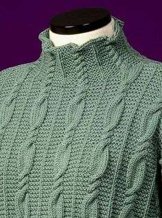 Diy Crafts - -Ravelry: Cable and Garter Stitch Turtleneck 116 pattern by Sue McCain Cable Knitting Patterns, Knitting Designs, Knit Patterns, Baby Knitting, Sweater Patterns, Knitting Tutorials, Vintage Knitting, Free Knitting, Stitch Patterns