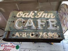 Sign, Oak Inn Cafe from Black Dog Salvage
