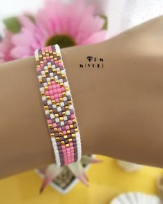 Miyoki ❀ 🌸 ❀ ❀ ❀ ❀ ❀ ❀ ❀ ❀ ❀ ❀ ❀ ❀ ❀ ❀ ❀ ❀ ❀ ❀ ❀ ❀ ❀ ❀ ❀ For information ➡️Dm contact 🌟 🌸 Bead Loom Bracelets, Beaded Bracelet Patterns, Friendship Bracelet Patterns, Beaded Earrings, Friendship Bracelets, Beaded Jewelry, Handmade Jewelry, Bead Loom Designs, Bead Loom Patterns