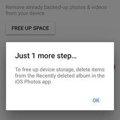 Paras ominaisuus! Kuvat tallentuu automaattisesti pilveen joten laitteen kuvat voi poistaa.  #google #googlephotos #app #appsivinkki #potkukelkkacom #t