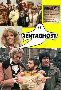 Rentaghost with Mr Davenport, Mr Mumford, and Mr Claypole. Also Miss Popov, who found later fame as Audrey in Coronation Street. Couldn't ever take her seriously in Corry as I kept expecting her to pop off. 1980s Childhood, My Childhood Memories, Vintage Tv, Vintage Kids, Vintage Music, Kids Tv Shows, Television Program, Old Tv, Classic Tv