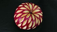 Christmas Apple Design - Beginner's Lesson 19 - Mutita Thai Art Fruit Ve...