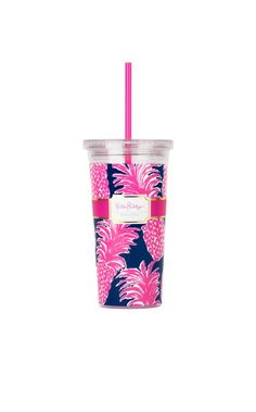 Tumblers are our best friends when on the go. From your car to a day running errands, stay hydrated with your Lilly tumbler in hand.