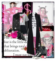 """Extreme Pink"" by lady-redrise ❤ liked on Polyvore featuring Inez & Vinoodh, Topshop, Alaïa, Zoe Karssen, Converse, Miss Selfridge, Nobody Denim, Yves Saint Laurent, Givenchy and Kate Spade"