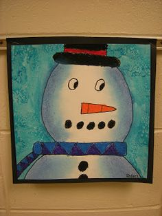 Value snowmen.Read Snowmen at Night. Students learned that VALUE is shading from dark to light to add dimension to a shape. Students had to choose two colors that were next to each other on the color wheel to add value and dimension to their snowman.