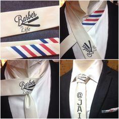 Custom made barber tie #barber #sartorandvillain