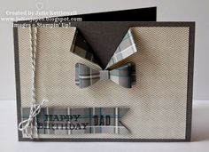 Bow Builder Bow Tie Card (Julie's Japes)