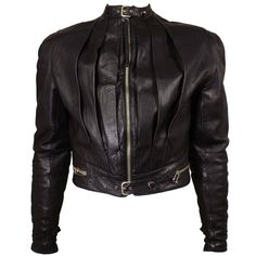 Jean Paul Gaultier Men's 1990s Highly Styled Leather Moto Jacket