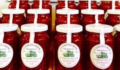 The Clayburn Village Store & Tea Shop Raspberry Jam. Abbotsford Bc, How To Make Jam, Preserves, Gourmet Recipes, Raspberry, Berries, Candy, Fresh, Tea