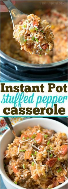 Instant Pot Stuffed Pepper Casserole