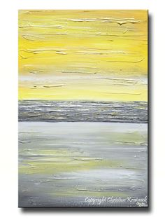 """GICLEE PRINT Art Abstract Yellow Grey Painting Wall Art Modern Canvas Prints Urban Gold White City Home Decor xl LARGE sizes up to 60"""" -Christine"""