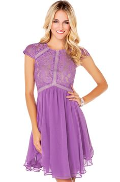 Lumier Heart of Glass A Line Dress in Lilac