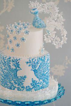 Hand Painted Wedding Cake Inspiration
