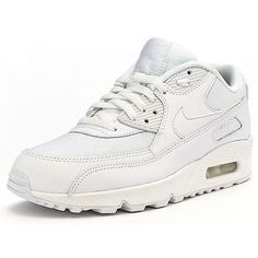 Nike Air Max 90 Essential Mens 537384-111 White Athletic Running Shoes Size 9