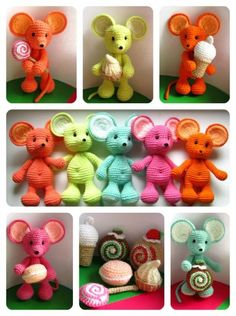 Inspiration - cute little mice in gorgeous colours