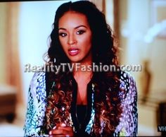 "Brandi Maxiell's 'Green Screen Interview' Multicolored Animal Print Jacket on ""Basketball Wives L.A."""