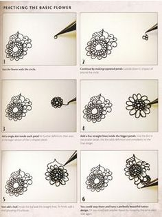 Zentangle Patterns Step by Step   Detailed Step-by-Step Instruction pages