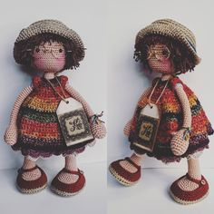 katxirula Crochet Doll Pattern, Crochet Toys Patterns, Stuffed Toys Patterns, Doll Patterns, Crochet Doll Clothes, Knitted Dolls, Crochet Dolls, Crochet Hats, Knitted Animals