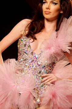 Fabulous sparkle and ruffles.