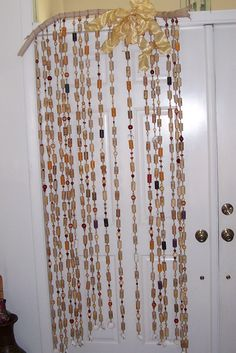 A Cork Glass Bead And Shell Curtain Perfect For The First Apartment Of